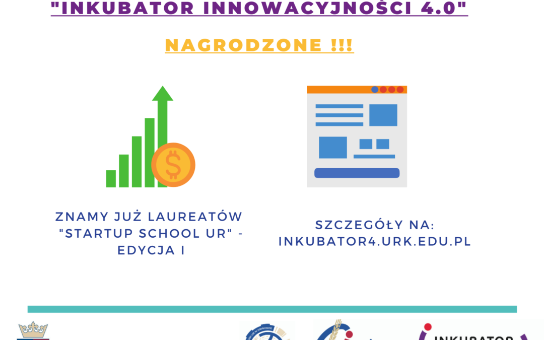 """The best Start-up Teams awarded under the """"Startup School UR"""" – """"Incubator of Innovation 4.0""""!"""