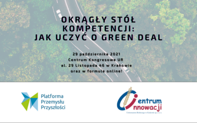 """We invite you to the conference """"Round table of competences: How to teach about the Green Deal""""!"""